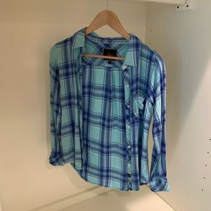 Rails xs blue flannel